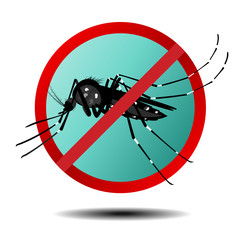 Anti mosquito sign ,flat icon, vector