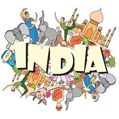 India colored set