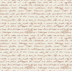 Hand writing note - latin text Lorem ipsum. Repeating pattern