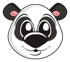 animal, fauna, zoo, bear, panda, cartoon, isolated, toy, childhood, head, face,  illustrations,  preschool, character, sweet, kind, smile
