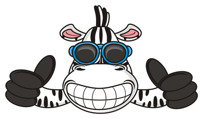 class, cool, sunglasses, grimace, teeth, zebra, horse, fun, cartoon, toy, zoo, isolated, striped, game, sports, championship, field, ball, cup, football boots, football, soccer, play