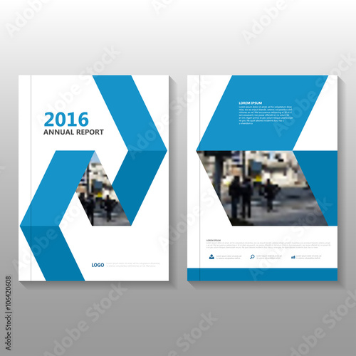 blue vector business proposal annual leaflet brochure flyer template