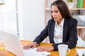 Nice photo of business woman in office