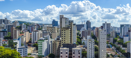 Panoramic view of Belo Horizonte, the capital of the state of Minas Gerais ,  Brazil.