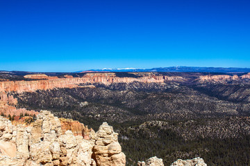 Wide view of Bryce Canyon National Park in Utah