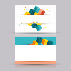 Isometric Business cards Design.