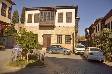 Ottoman mansion, previously occupied by Antalya Kultur Evi, in Kaleici district of Antalya, Turkey.