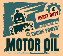 Vintage Label Design Template. Motor oil