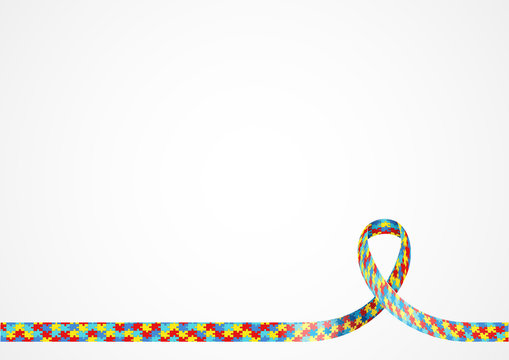 Autism Awareness Ribbon Background