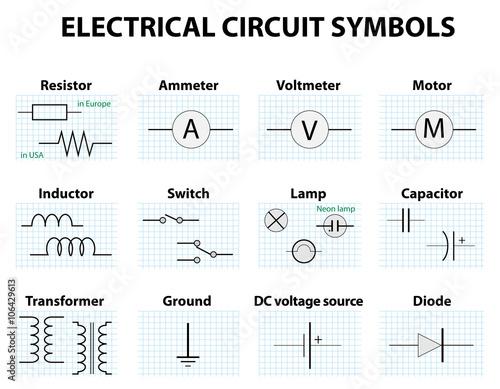Common circuit diagram symbols\