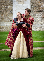 Actors Performing Shakespeare Open Air Theater. King & Queen