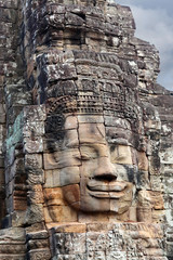 Ancient bas-relief at Prasat Bayon temple in Angkor Thom, Cambodia