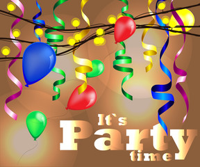 vector illustration for party