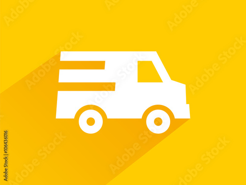 """yellow Icon Free Quick Delivery With Long Shadows"" Stock"