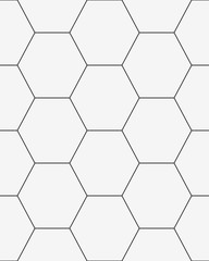 Black and white honeycomb seamless pattern, vector