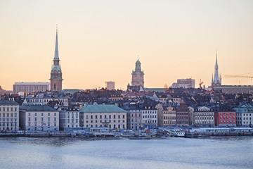 In de dag Stockholm Landscape with the image of Stockholm, Sweden