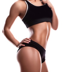 Body of fitness girl