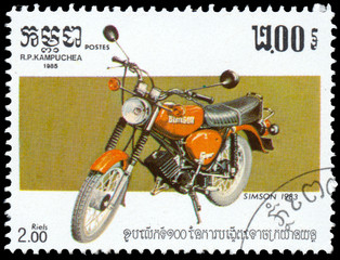 Stamp printed in Kampuchea shows Simson