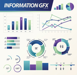 Info graphics Business e commerce statistic vector set