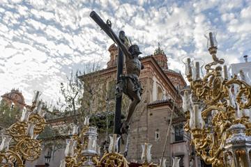 Expiración de Jesús en la cruz, semana santa de Sevilla, hermandad del cachorro