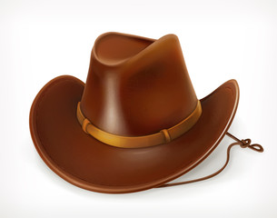 Cowboy hat, vector icon