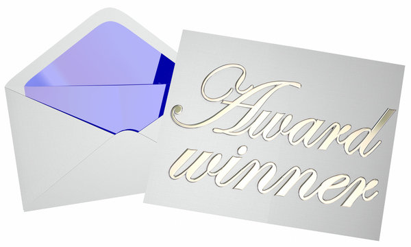 Award Winner Opening Envelope Competition Announcement 3d Words