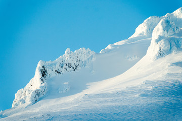 Wall Mural - Sunset Mount Hood Cascade Range Ski Resort Area