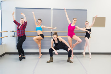 dance style group in studio