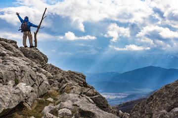 bulutlu dağlarda zirve başarısı