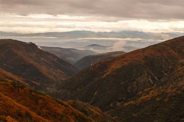 Paisaje, Valle y Hoya Berciana, El Bierzo. Ponferrada, Montes de León, España.