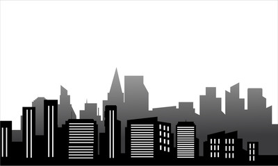 Silhouette of just a buildings