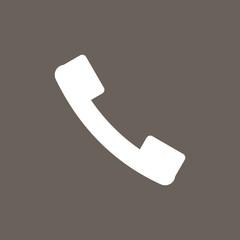 Call Icon on Dark Gray Color. Eps-10.