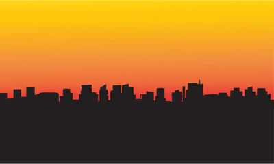 Collection silhouette city