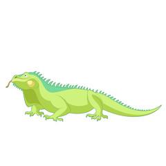 Cartoon smiling Iguana