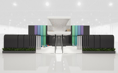 Exhibition Stand with 2 Levels