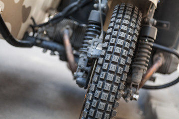 Trial motorcycle knobby tire