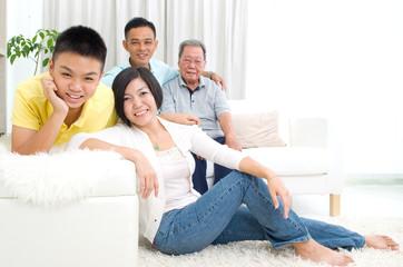 asian 3 generations family
