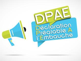 mégaphone : DPAE