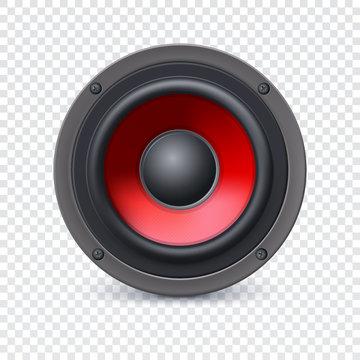 Speaker on transparent