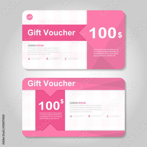 Cute pink gift voucher template layout design set certificate cute pink gift voucher template layout design set certificate discount coupon pattern for shopping vector yelopaper Images