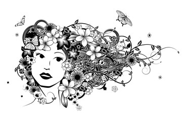 Hair Woman Fashion Illustration