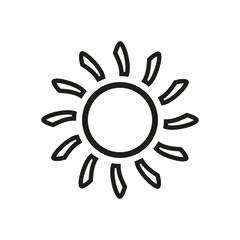 The sun icon. Sunrise and sunshine, weather symbol