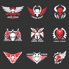 Logos and emblems set