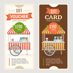 Gift Voucher Set. Vector