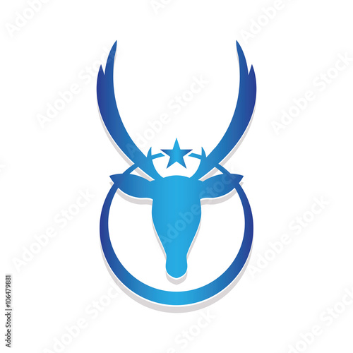 Deer Head Star Logo Vector Stock Image And Royalty Free Vector
