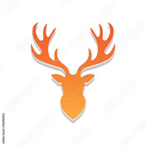 Deer Head Logo Vector Stock Image And Royalty Free Files On Fotolia