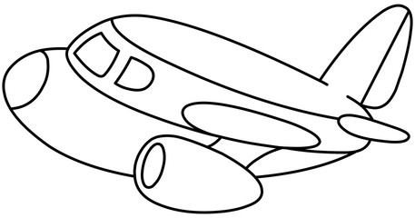 Outlined plane