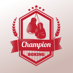 Boxing champion logo