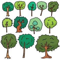 vector set of tree