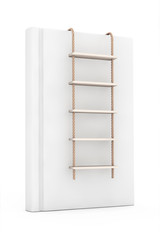 White Blank Book with Rope Ladder